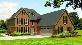 Traditional House Plan 47391 Elevation
