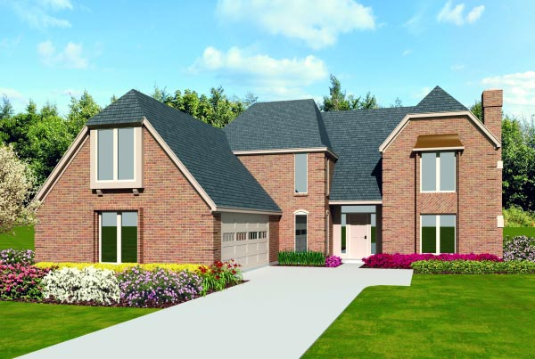 House Plan 47404 | Country Style Plan with 3058 Sq Ft, 3 Bedrooms, 3 Bathrooms, 2 Car Garage Elevation