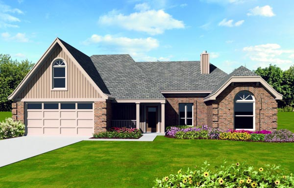 House Plan 47405 Elevation