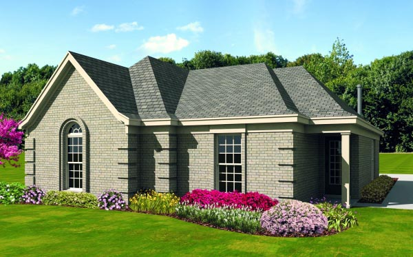 House Plan 47410 with 2 Beds, 2 Baths, 2 Car Garage Elevation