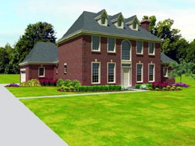 Traditional House Plan 47411 Elevation