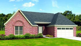House Plan 47412 with 3 Beds, 2 Baths, 2 Car Garage Elevation