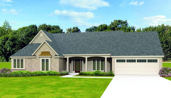 Traditional House Plan 47441 Elevation