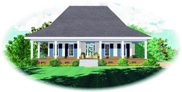 Country House Plan 47444 Elevation