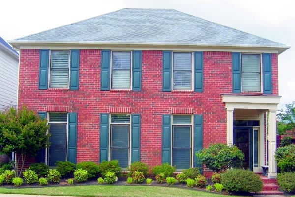 Traditional House Plan 47448 with 3 Beds, 3 Baths, 2 Car Garage Elevation