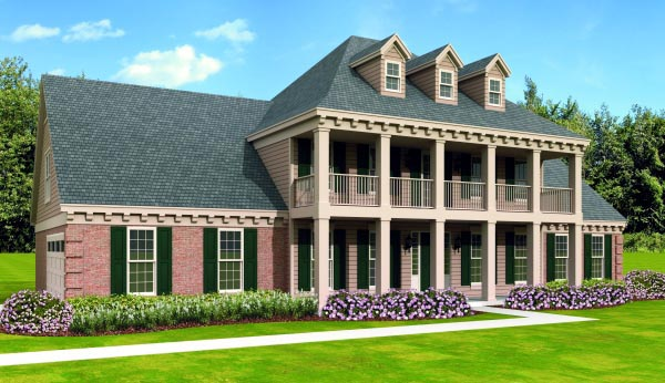 House Plan 47459 Elevation