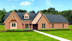 House Plan 47464 | Traditional Style Plan with 3301 Sq Ft, 3 Bedrooms, 4 Bathrooms, 2 Car Garage Elevation