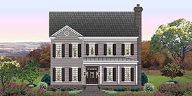 Traditional House Plan 47468 with 4 Beds, 4 Baths, 2 Car Garage Elevation