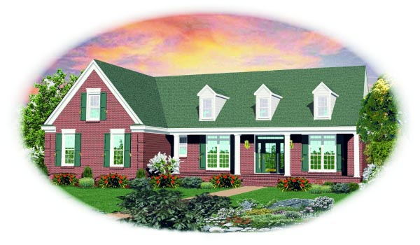 House Plan 47473 Elevation