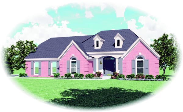 House Plan 47478 Elevation