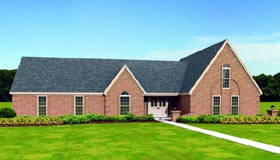 Traditional House Plan 47479 with 4 Beds, 3 Baths, 2 Car Garage Elevation