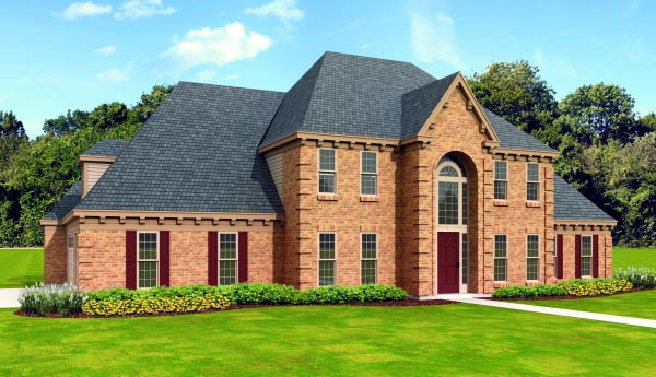 Traditional House Plan 47480 Elevation