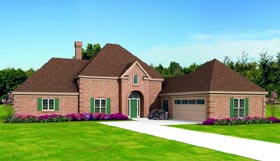 Traditional House Plan 47484 Elevation