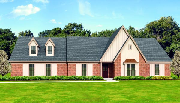 Contemporary House Plan 47485 Elevation