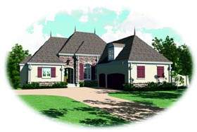 Country House Plan 47488 Elevation