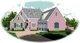 Country House Plan 47489 Elevation