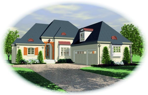 House Plan 47496 Elevation