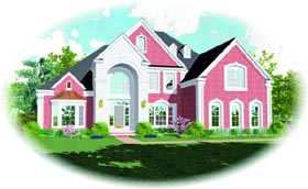 Traditional House Plan 47504 Elevation