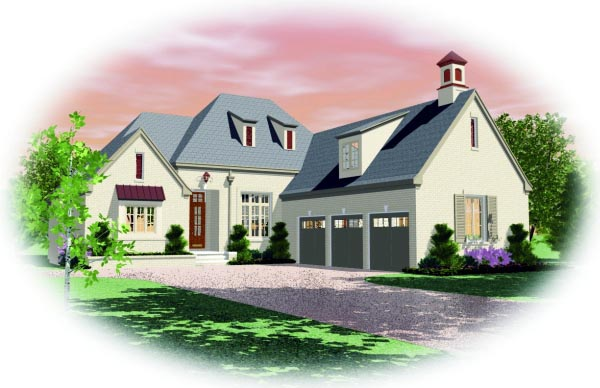 House Plan 47511 Elevation