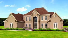 Traditional House Plan 47517 with 5 Beds, 3 Baths, 3 Car Garage Elevation