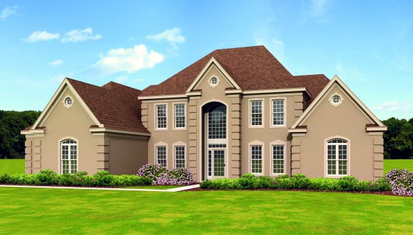 Traditional House Plan 47517 Elevation