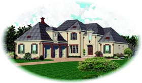 Country House Plan 47532 with 3 Beds, 4 Baths, 3 Car Garage Elevation