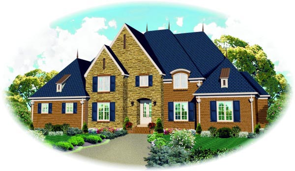 Country House Plan 47540 Elevation
