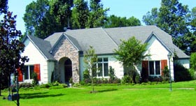 European House Plan 47541 Elevation