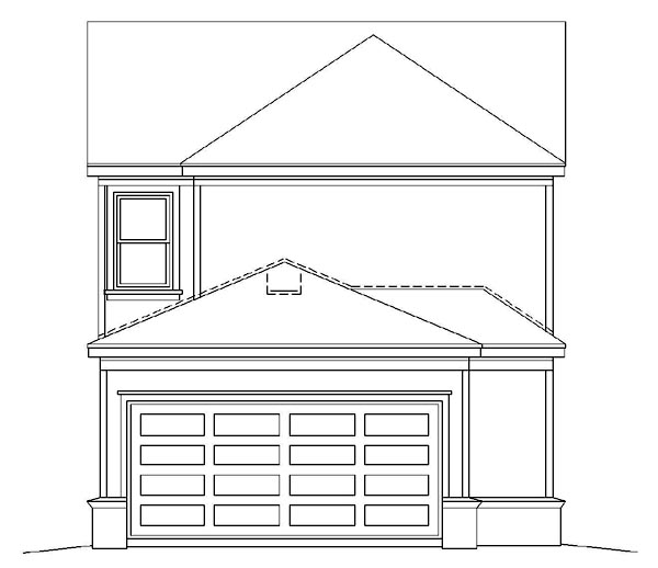 House Plan 47557 Rear Elevation