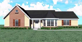 Traditional House Plan 47564 Elevation