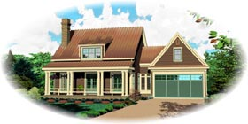 Country House Plan 47567 Elevation