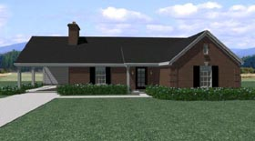 Traditional House Plan 47568 Elevation