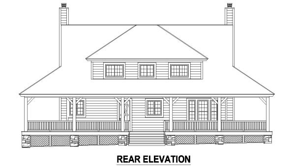 Country House Plan 47578 Rear Elevation