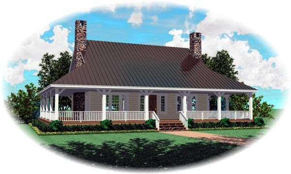 Country House Plan 47579 Elevation