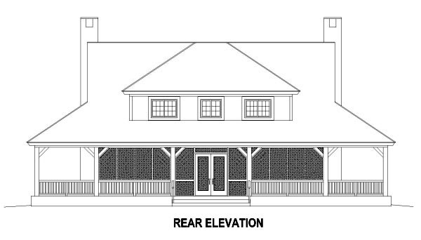 Country House Plan 47579 Rear Elevation