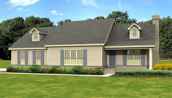 Traditional House Plan 47582 Elevation