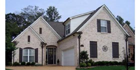 European , Country House Plan 47589 with 3 Beds, 3 Baths, 2 Car Garage Elevation