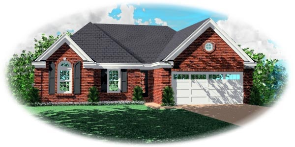 European Traditional House Plan 47596 Elevation