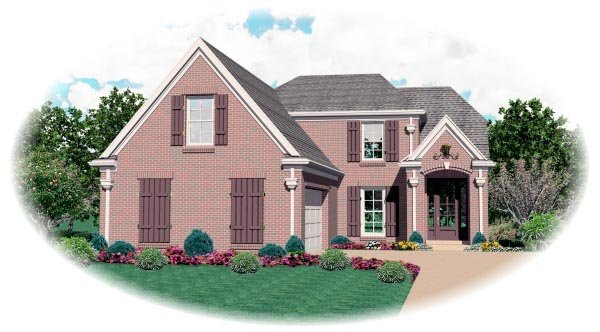 Country European House Plan 47599 Elevation