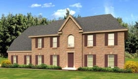 House Plan 47908 | European, Traditional Style House Plan with 3056 Sq Ft, 4 Bed, 4 Bath, 2 Car Garage Elevation