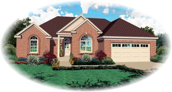 European Traditional House Plan 47923 Elevation