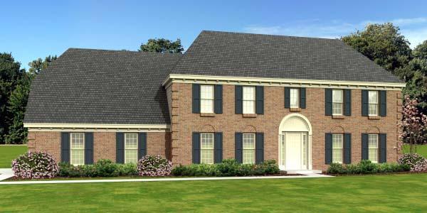 European House Plan 47928 Elevation
