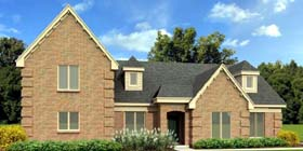 Country European House Plan 47935 Elevation
