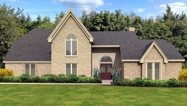 Country European House Plan 47937 Elevation