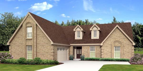 European Traditional House Plan 47944 Elevation
