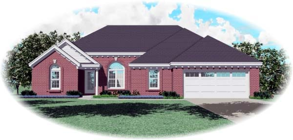 European Traditional House Plan 47952 Elevation