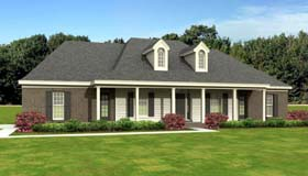 European House Plan 47953 with 3 Beds, 3 Baths, 2 Car Garage Elevation
