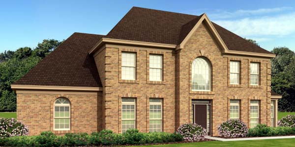 House Plan 47954 | European Traditional Style Plan with 3050 Sq Ft, 3 Bedrooms, 4 Bathrooms, 2 Car Garage Elevation