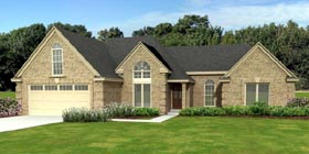 European , Traditional House Plan 47963 with 3 Beds, 2 Baths, 2 Car Garage Elevation