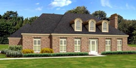 House Plan 47968 | European Style Plan with 2971 Sq Ft, 4 Bedrooms, 2 Bathrooms, 2 Car Garage Elevation
